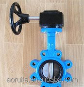 GGG50 Lug Type bare Shaft Table E Flange Butterfly Valve WIthout Pin