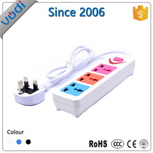 cheap price extension cord 3 gang switched socket