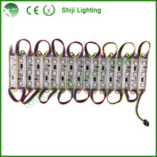 Addressable ws2801 3 chips rgb pixel led module light for signboard