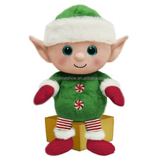 Cartoon Big Eyes Stuffed Plush Christmas Elf Doll Toy 2018 New Gift Soft Kids Plush Elf Sex Doll