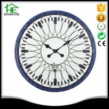 wholesale home decoration large blue led wall light clock