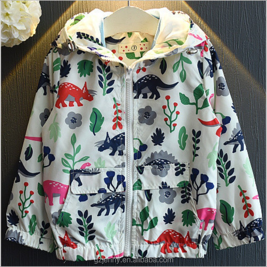 Latest Water Proof Windbreaker Nylon Outdoor Coat Hooded Girl Kid Jacket
