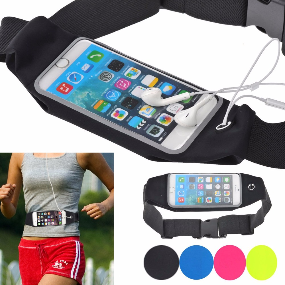Reflective Universal Waterproof Runner Waist Pack in Lycra with Touch Screen for Travel and Running