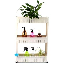 PP 4 layers white plastic removable shelf sliding storage shelf