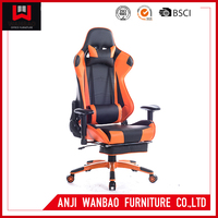 Pu leather Lift Swivel Chair Adjustable Dxracer Safety Gaming Chair With Footrest