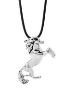 Titanium Steel Unisex Jewelry Twelve zodiac Horse Pendant Necklace