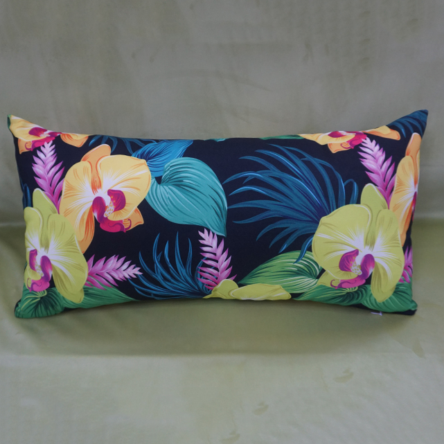 Tropical plants printed indoor decor cushion cover replaceable zipper locked