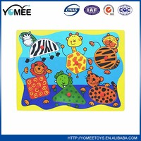 Educational colorful wooden wholesale jigsaw puzzles toy