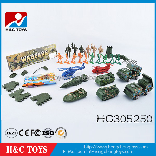 Promotional toys cheap baby toy mini plastic military toys play set for children HC305250