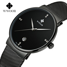 2017 Luxury Classic Watch Men Waterproof Wristwatch Quartz Stainless Steel Wwoor Watch