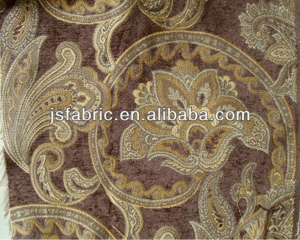 Home Textile High Quality Furniture Embossed Jacqaurd Decoration Fabric