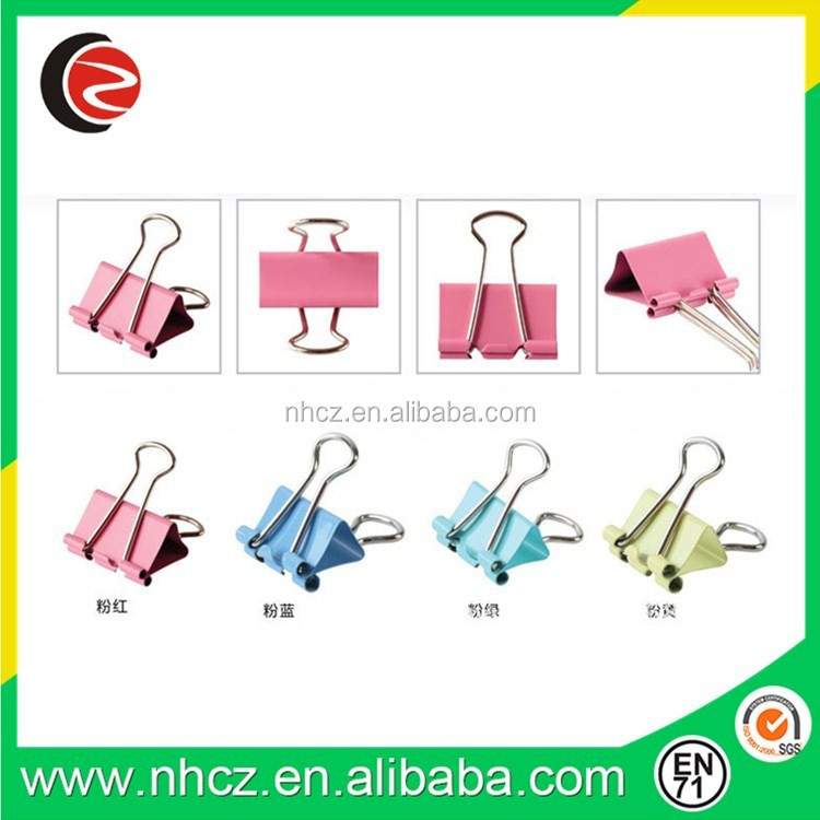 32mm paper metal colorful decorative binder clips