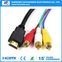 High quality hdmi male to 3 rca video audio AV Cable