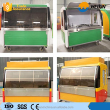 Street Colorful Coffee Food Cart, Vending Mobile Food Truck