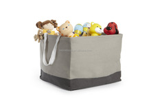 Waterproof Coating Cotton Fabric Storage Bin with Tote Handle
