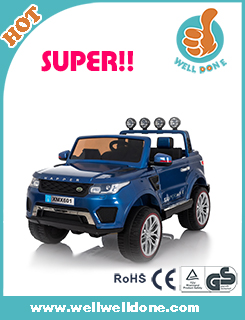 WDTL5388 Newest Kids Electric Ride On Cars With Double Battery Tractor Car Tracking