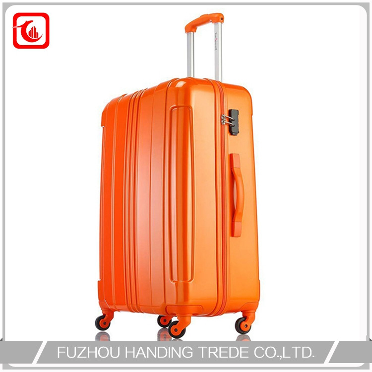suit case polycarbonate luggage and kid plastic orange suitcase