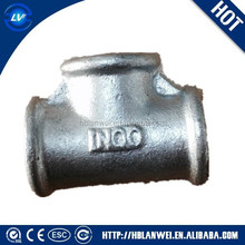 Malleable Iron Pipe fitting Tee equal breaded