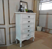 Classic rustic furniture solid oak distressed wood white Chest Of Drawers