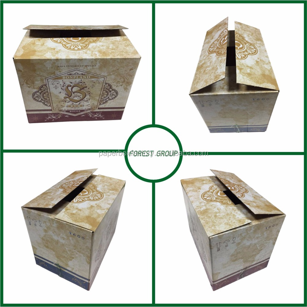 Matte lamination corrugated shipping box good quality corrugated paper box for <strong>wine</strong> shipping