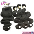 100% Body Wave Virgin Brazilian Remy Hair Weave Top Full Lace Closure Piece