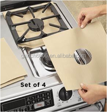 Kitchen appliance reusable Hob Protector/stove top protector,reusable fiberglass gas stove protect mat