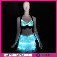 2015 fashion hot sale sexy dance fiber optic led luminous clothing