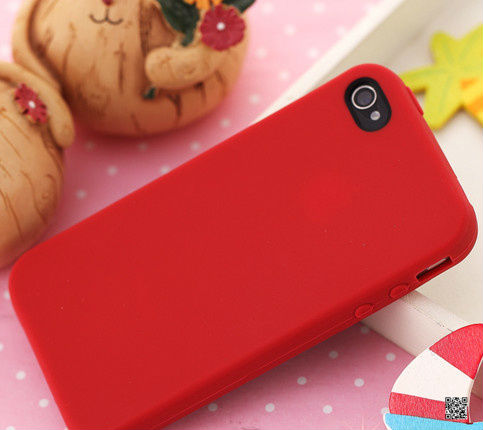 Hot printing silicone mobile phone cover for iphone5