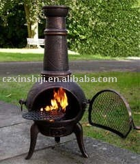 outdoor BBQ chiminea