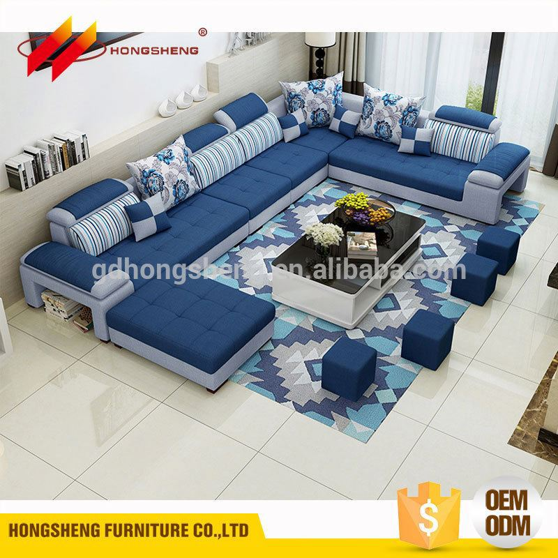latest design luxury indian corner sofa set