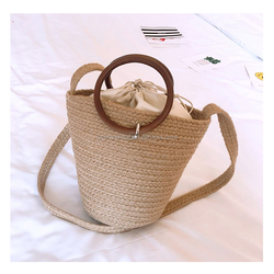 New design wholesale straw bag mexico favorite handmade beach bag shoulder bag with round handle