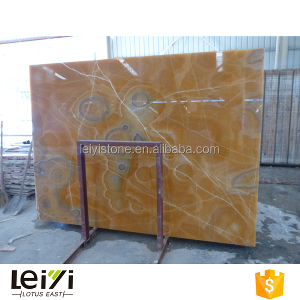 Mexican orange yellow onyx translucent bar countertop