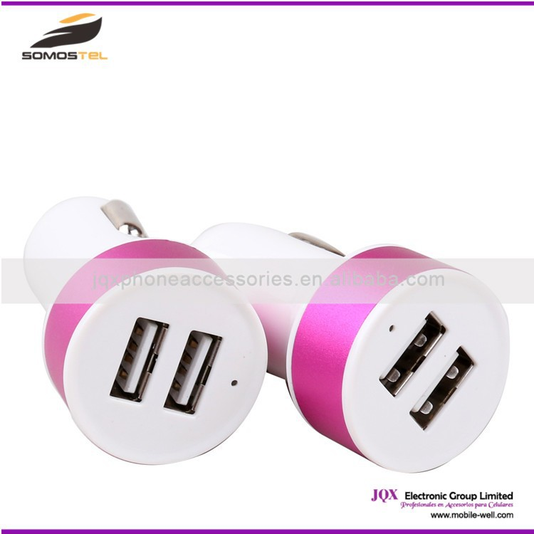 [Somostel] Dual Universal USB Micro Car Charger for iPhone for iPod for iPad