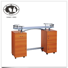 DTY bulk discount portable salon furniture wooden used manicure table