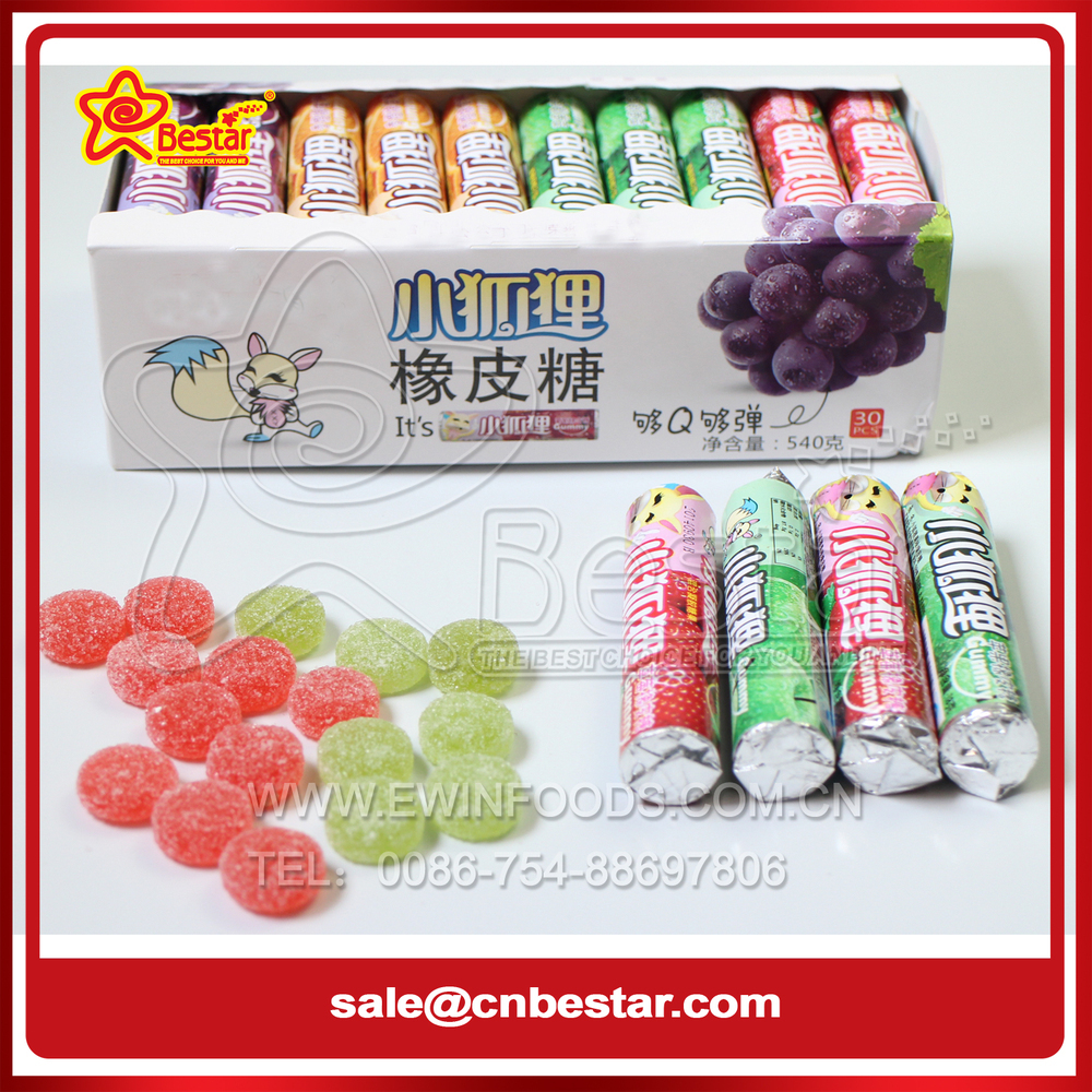 Assorted Fruit Flavor Sugar Coated Gummy Candy