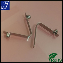 Tent Pole Push Button Spring Snap Clip Tube, Spring Locking Pins, Button Spring Clips for 25mm Tube Clamp