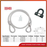 JQ8401 New Design Steel Wire Rope Lock Motorcycle Safe Lock