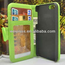 Soft Leather Photo Card Wallet Flip Hard Case Cover For iphon5/5 Green
