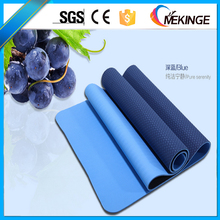 "Best waterproof 6mm double colors tpe yoga mat ,fitness flow 72"" yoga mat"