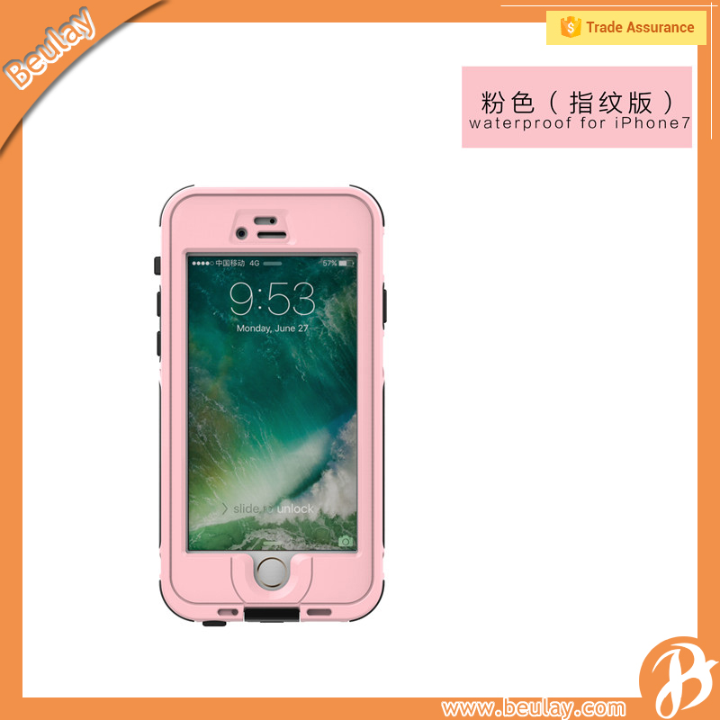 For Iphone 7 Colorful Waterproof Shockproof Back Cover Case