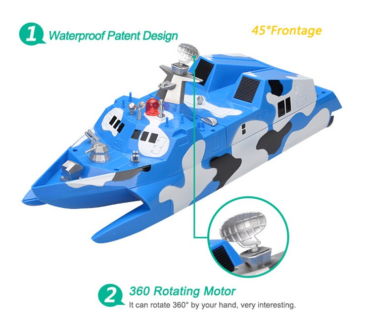 HT new products 1:275 wireless missile boat 2.4GHz High Speed Racing Remote Control RC Boat