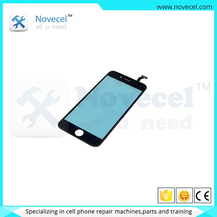 NOVECEL wholesale screen glass lens lcd touch glass with frame screen glass lens for iphone for samsung galaxy note 4