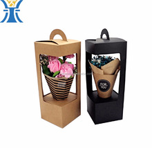 china alibaba kraft paper long flowers packing delivery shipping gift box