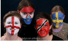 High quality of cheap face paint for football fans brush flag face paint