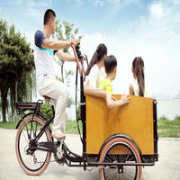 CE approved cheap electric 3 wheel two front wheel bike cargo tricycle from China factory