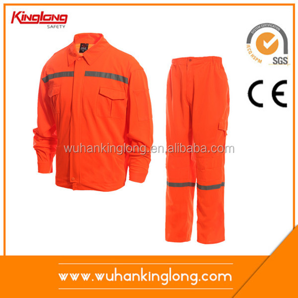 Custom logo work wear sets unisex work clothing safety yellow work wear overalls
