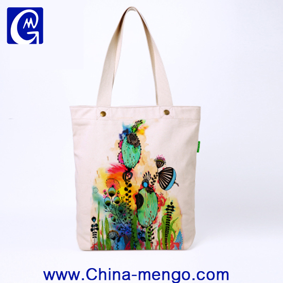 Top quality Silk screen OEM Vintage colorful promotional hemp canvas bag