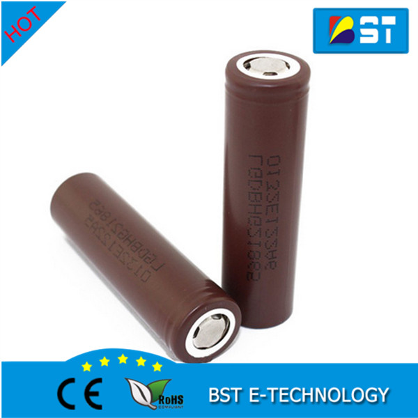 Popular mechanical mod 18650 battery icr18650hg2 3000mAh Li-ion rechargeable lg hg2 battery