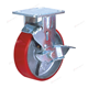 Long way 4 / 8 inches 500kg industrial lock trolley wheels heavy duty plate castor caster swivel wheels
