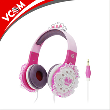 China Vcom Wholesale High Quality Free Sample fashion Headphones Lovely Cute Design Wired PC Headphones for Boys and Girls